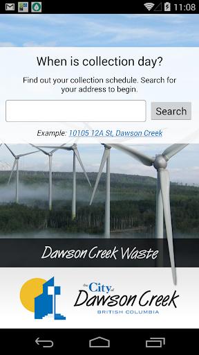 Dawson Creek Waste App