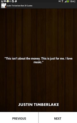 玩生活App|J Timberlake Best 20 Quotes免費|APP試玩