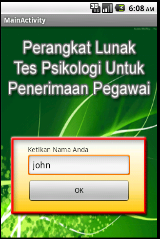 Tes Psikologi - screenshot