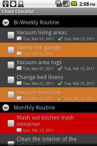 Chore Checklist CloudConnector- screenshot