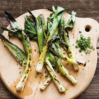 Grilled Baby Leeks with Chervil & Chives.