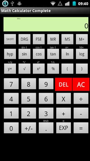 Math Calculator Complete