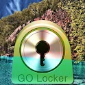 GO Locker Theme lake mountains logo