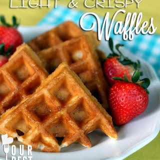 Light & Crispy Waffles.