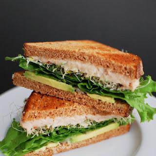 White Bean and Avocado Sandwich.