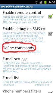 SMS Device Control Lite - screenshot thumbnail