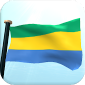 Gabon Flag 3D Free Wallpaper