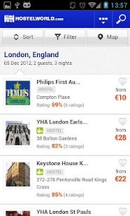Hostelworld.com - Hostels - screenshot thumbnail