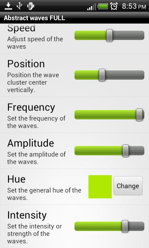 Abstract waves Live wallpaper - screenshot