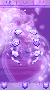 Purple Haze Hearts GO Launcher - screenshot thumbnail