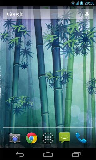 竹林動態桌布模板