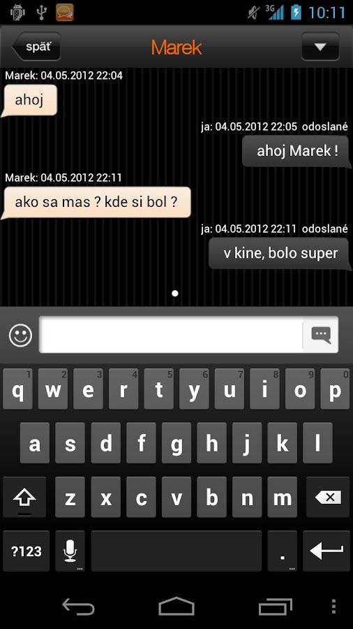 Orange chat - screenshot