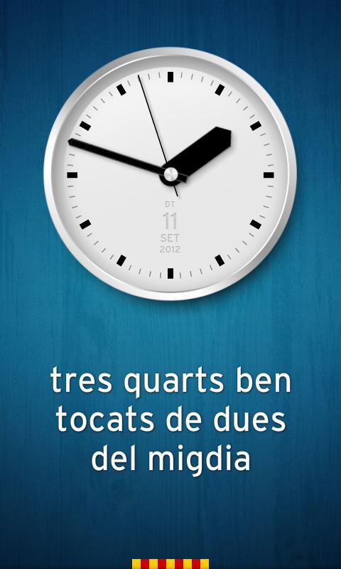 Rellotge Català - screenshot