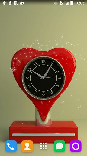 红色的时钟