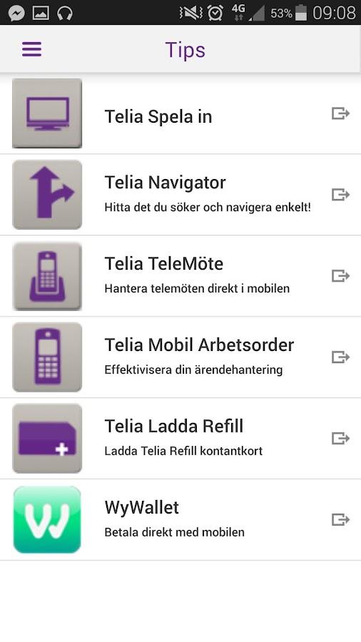 Mitt Telia- screenshot