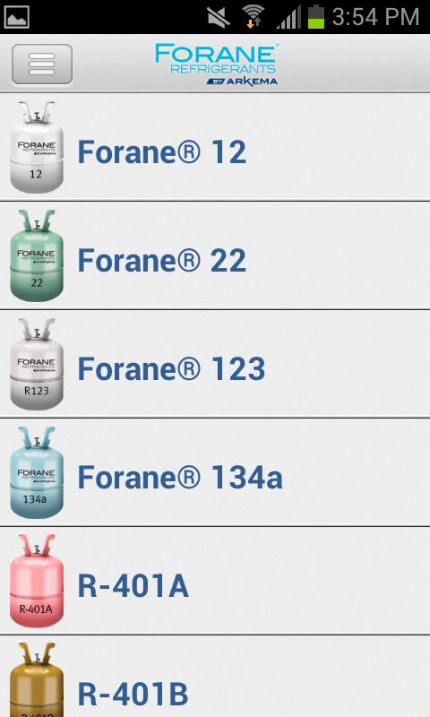Forane® P/T - screenshot