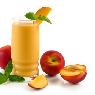 Peaches and Cream Smoothies.