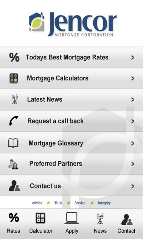Jencor Mortgage App - screenshot