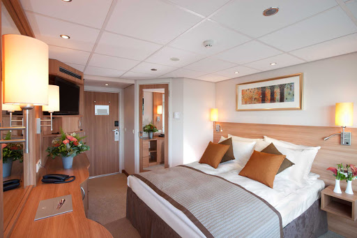 Viking-Legend-Deluxe-Stateroom - The spacious staterooms aboard Viking Legend will make your journey comfortable as you explore the Danube River.