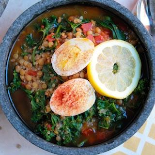 Lentil, Quinoa, and Kale Soup.