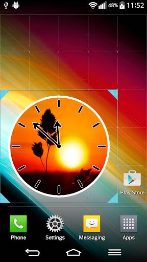 日の出サン時計ウィジェット