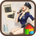 pinup girl arrested dodol icon