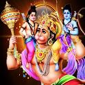 Hanuman at Sky Live Wall icon