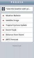 Screenshot of PAGASA Mobile