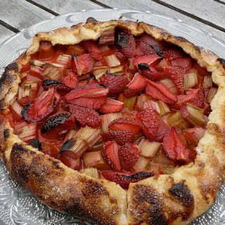 Rhubarb and Strawberry Galette.