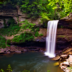 Greeter Falls by Steve Rogers - Landscapes Waterscapes ( waterfalls, cascade, creek, waterfall, tennessee )