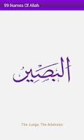 Screenshot of 99 Names of Allah
