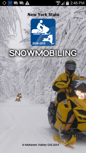 Snowmobiling NY State 2014