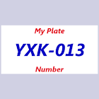 My Plate Number icon