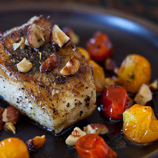 Cod Fish with Hazelnut Browned Butter.