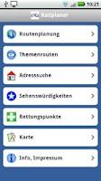 Screenshot of Radroutenplaner Hessen - alt