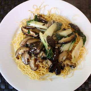 Hong Kong Style Pan-Fried Noodles.