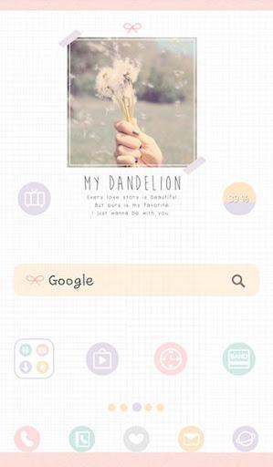my dandelion 도돌런처 테마