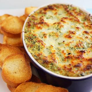 Hot Cheesy Spinach-Artichoke Dip.