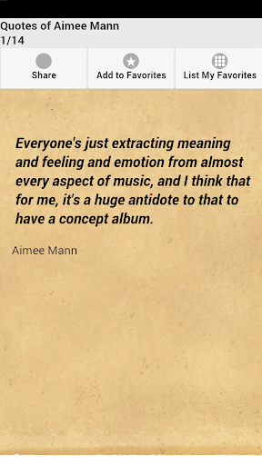 Quotes of Aimee Mann