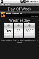 Screenshot of Day Of Week