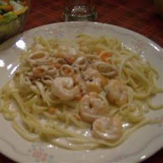 Calamari in a Creamy White Wine Sauce.