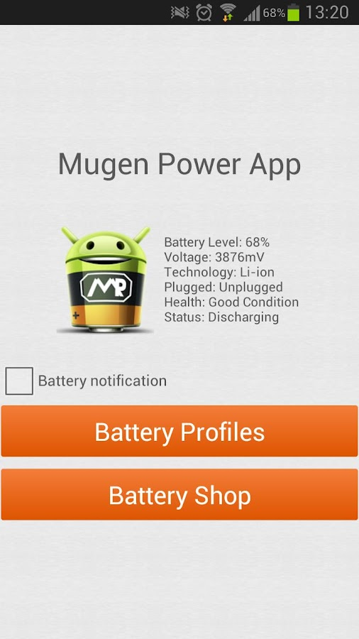 Mugen Power App - screenshot