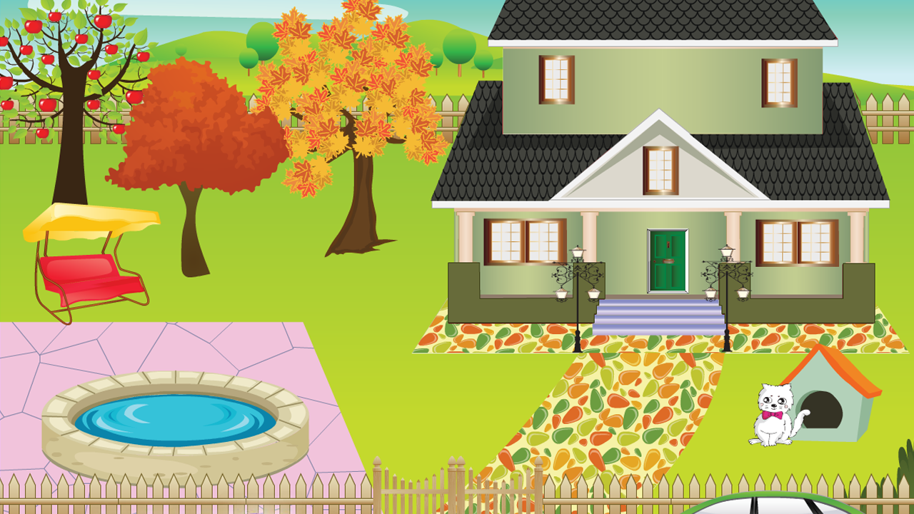 My house drawing for kids webwoud for Animals decoration games