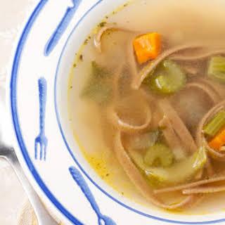 Vegetarian Flu-Fighting Noodle Soup.