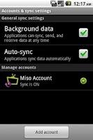 Screenshot of Miso Sync
