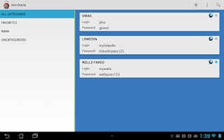 Screenshot of Password Manager (Iron Dome)