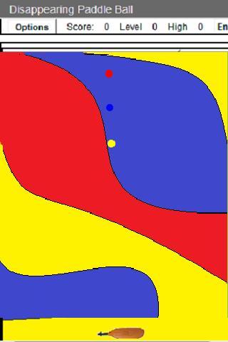 Disappearing Paddle Ball- screenshot