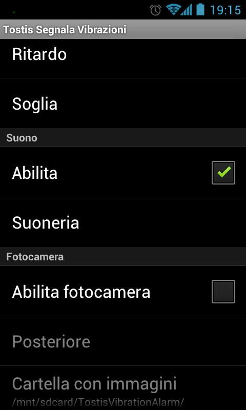 Tostis Vibration Alarm - screenshot
