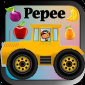 Pepee Traktör Kullanıyor