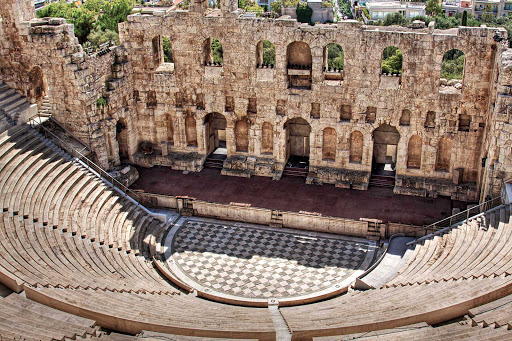 odeon-acropolis-athens-greece - Odeon of Herodes Atticus, part of the Acropolis in Athens, Greece.